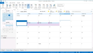 Affichage calendrier Outlook