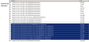 Mises à jour Project Server et SharePoint Enterprise dans Windows Update