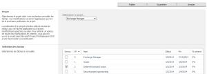 Choix d'une tâche à clôturer dans Project Server 2010
