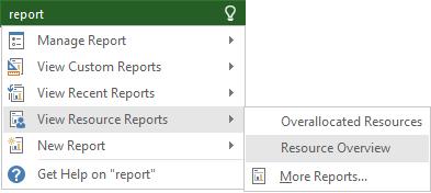 """Fonctionnalités liées au terme """"report"""""""